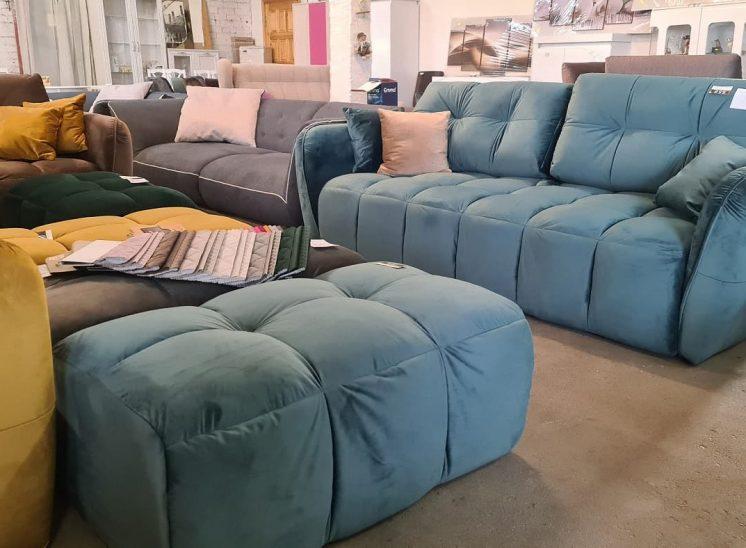 Modulinė sofa lova su pufu